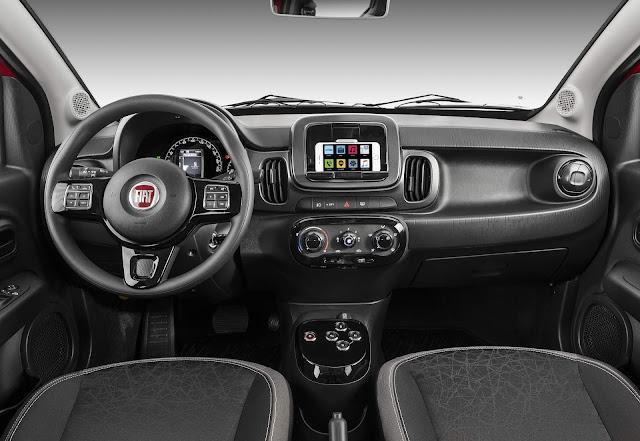 Novo Fiat Mobi 2018 Automático - interior
