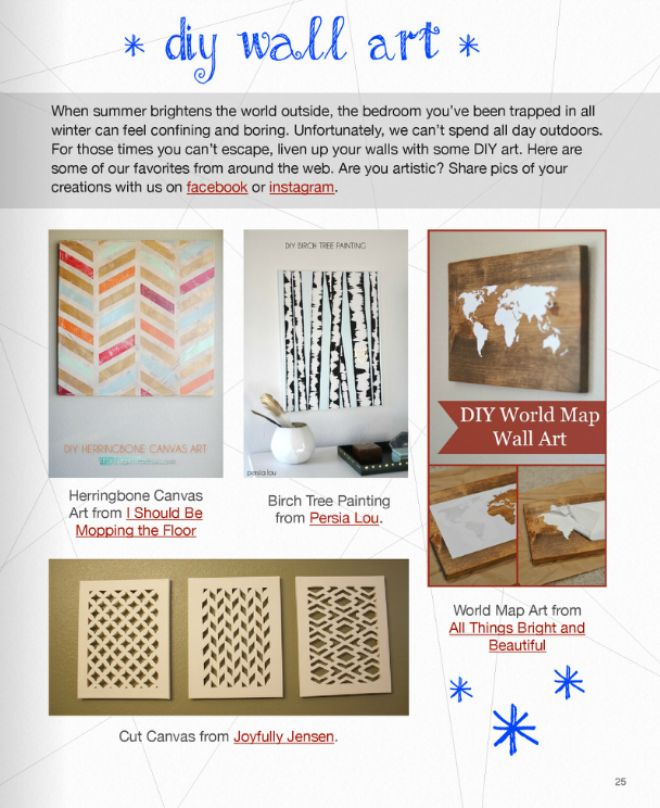 Stand & Shine Magazine: DIY Wall Art