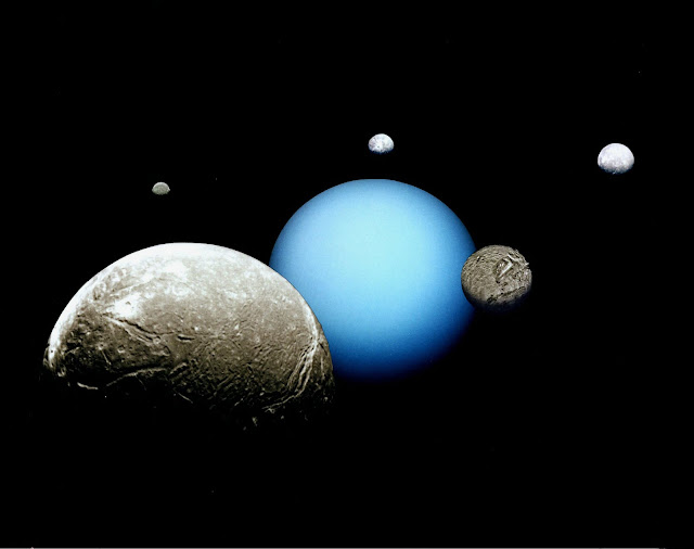 Uranus has 27 moons. All of these moons are named after the characters from the works of William Shakespeare and Alexander Pope.
