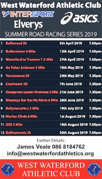 Waterford Race Series - Apr to Aug 2019