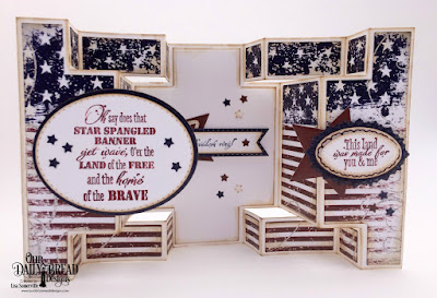 Our Daily Bread Designs Stamp Set: Let Freedom Ring, Paper Collection: Stars and Stripes, Custom Dies: Double Display Card, Double Display Layers, Sparkling Stars, Double Stitched Stars, Pennant Flags, Double Stitched Pennant Flags, Ovals, Pierced Ovals, Double Stitched Ovals, Ornate Ovals, Layered Lacey Ovals