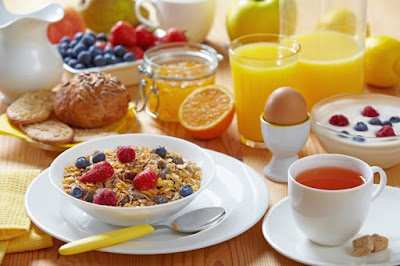 un petit-déjeuner équilibrée