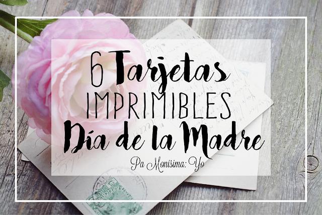 tarjetas día de la madre freebie imprimibles gratis monerias pamonisimayo