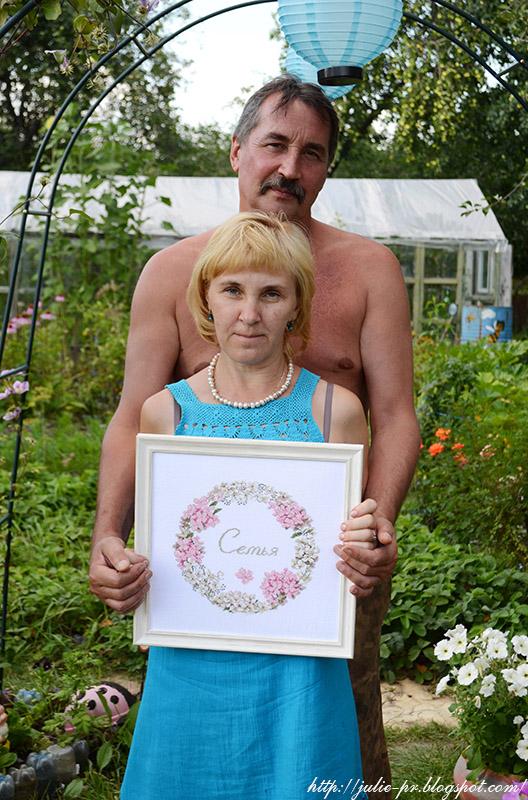 Le cercle familial, Семейный круг, Véronique Enginger, De fil en aiguille, DFEA, вышивка крестом, point de croix, свадебная вышивка