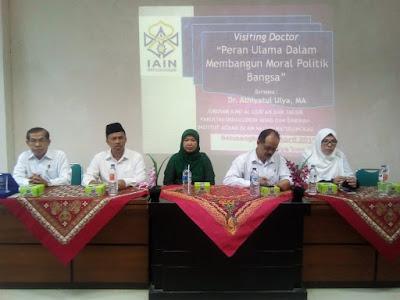 Visiting Doctor IAT Tekankan Pentingnya Peran Ulama di Indonesia