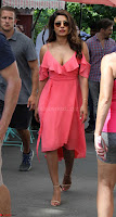 Priyanka Chopra in a Deep neck Red Gown on the Set of Isnt It Romantic ~  Exclusive Celebrities Galleries 002.jpg