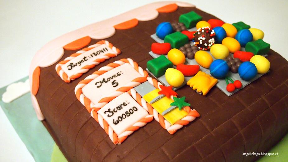 Candy Crush Birthday Cake