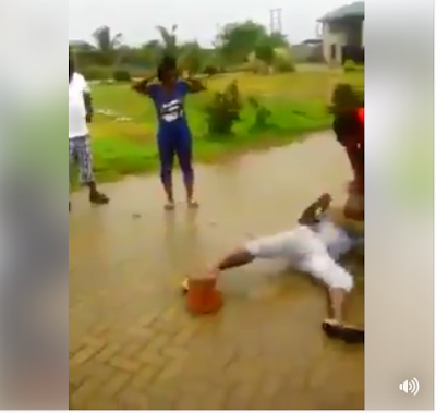 Watch How Man Uses Brooms + African Method To Catch A Thief (Photos/Video)