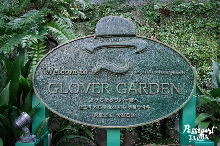Plaque de bienvenue, Glover Garden, Nagasaki, Kyushu