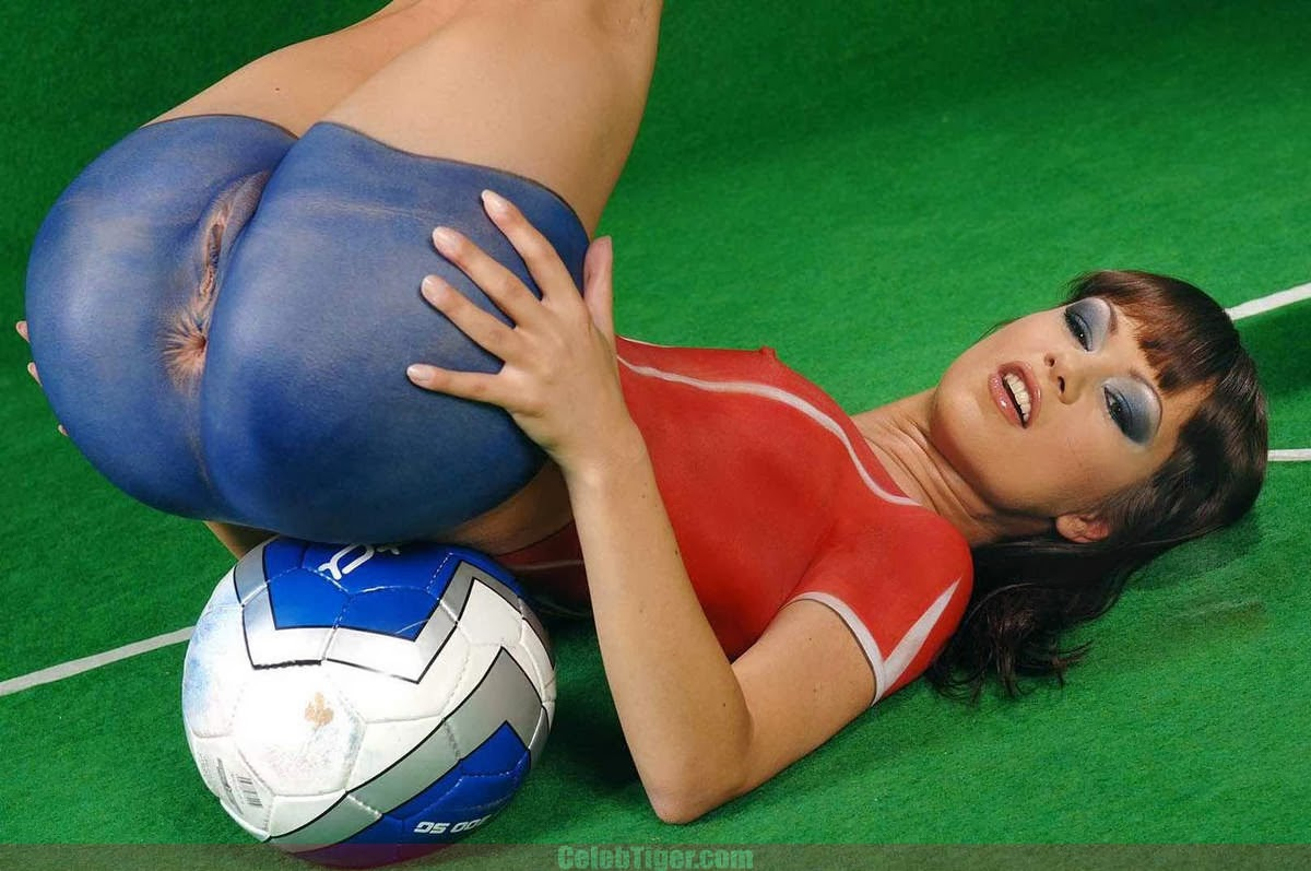 World Cup Pussy 182439  Pussy Body Paint Soccer Girls Hot S-4306