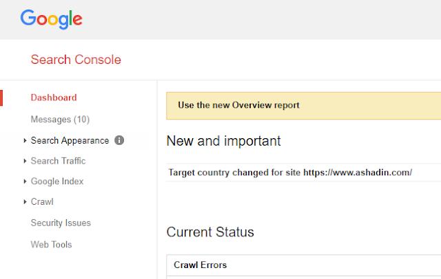 Akses Google Webmaster Tool lama