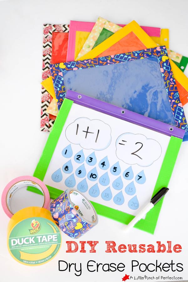 DIY Reusable Dry Erase Pockets -