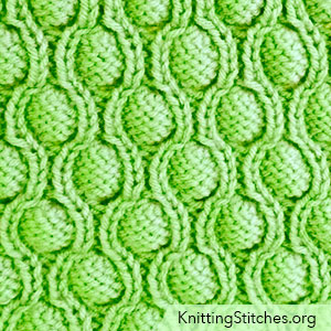 Cocoon stitch aka Pod stitch.  Great Bubble Pattern! It is very well written, easy to follow.