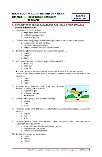 Download Soal Tematik Kelas 2 Tema 4 Hidup Bersih Dan Sehat Semester 1 Edisi 2017 Tempat