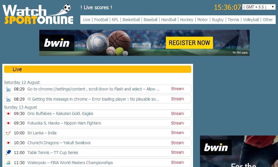 sport live stream free online