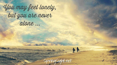 You may feel lonely, but you are never alone... SpringSight.net