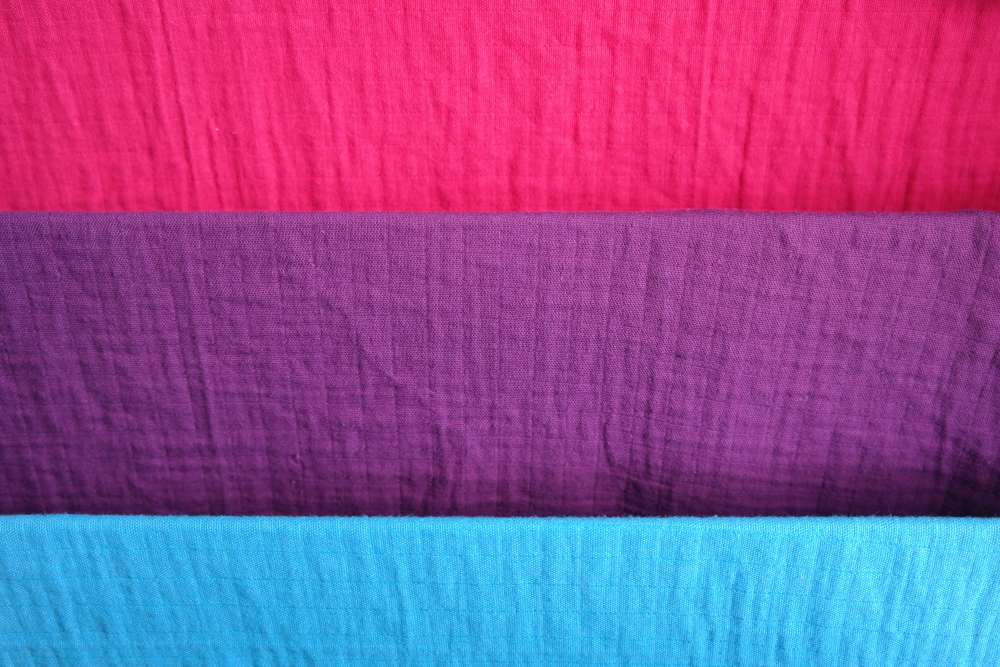 Brightly coloured muslins