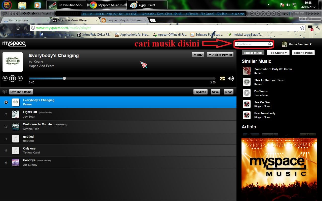 Myspace Music Player