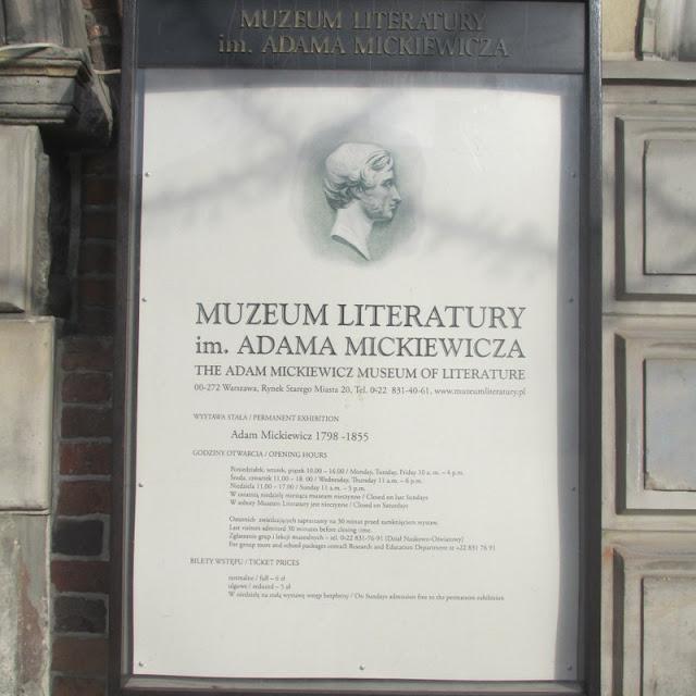 Muzeum Literatury im. Adama Mickiewicza w Warszawie