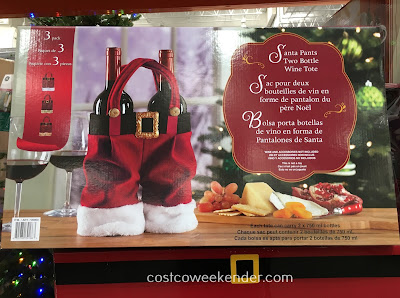 Carry bottles of wine with ease with the Santa Pants Two Bottle Wine Tote