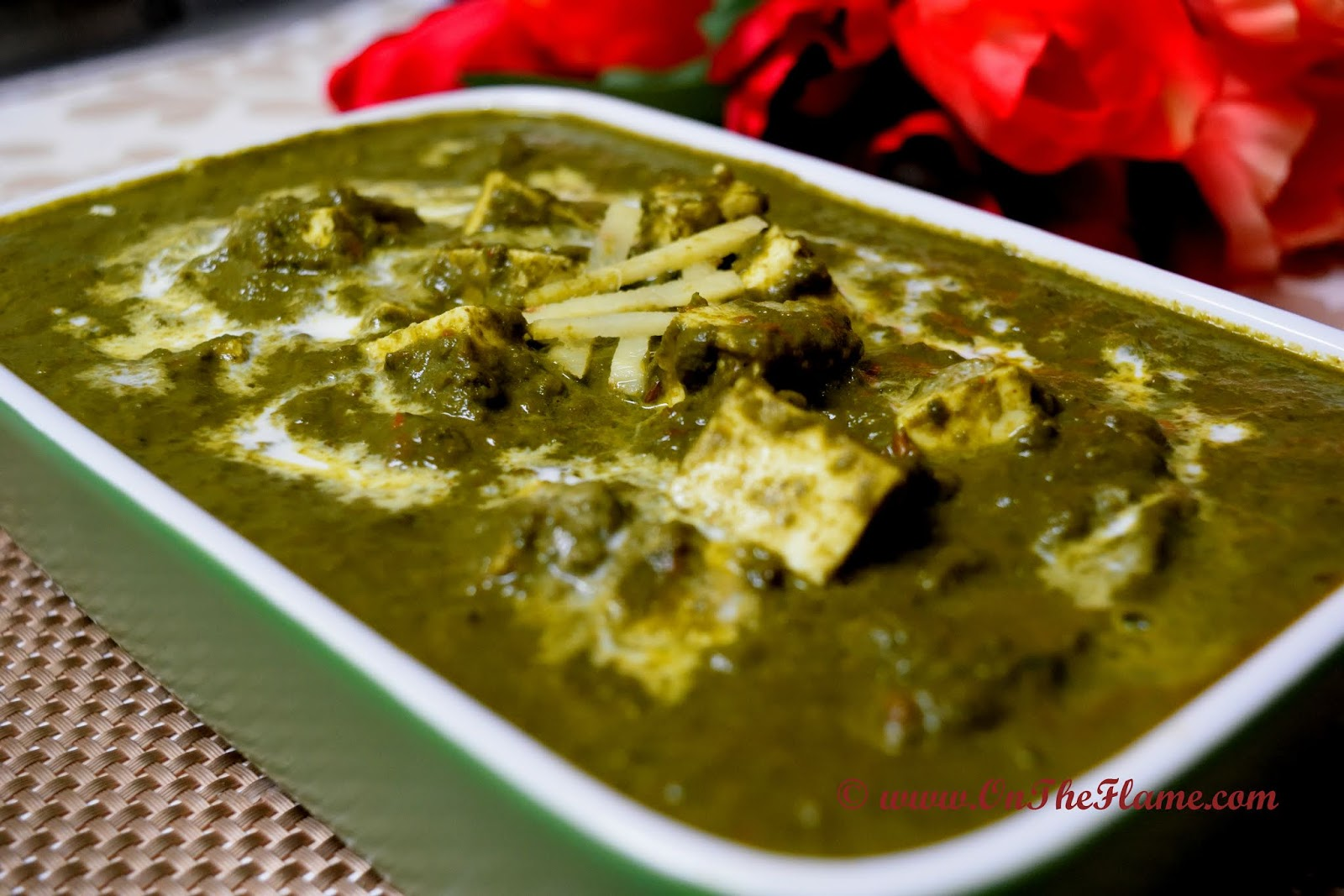 On The Flame Palak Paneer Spinach Curry With Indian Cottage