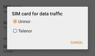 SIM card for data traffic