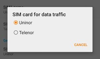 SIM card for data traffic
