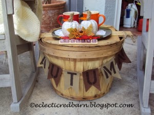 Eclectic Red Barn: Autumn banner on basket