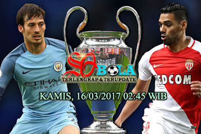 PREDIKSI PERTANDINGAN AS MONACO Vs MANCHESTER CITY