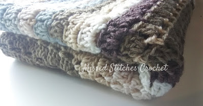 Missed Stitches Crochet - Modern Granny Afghan from Crochet Crowd