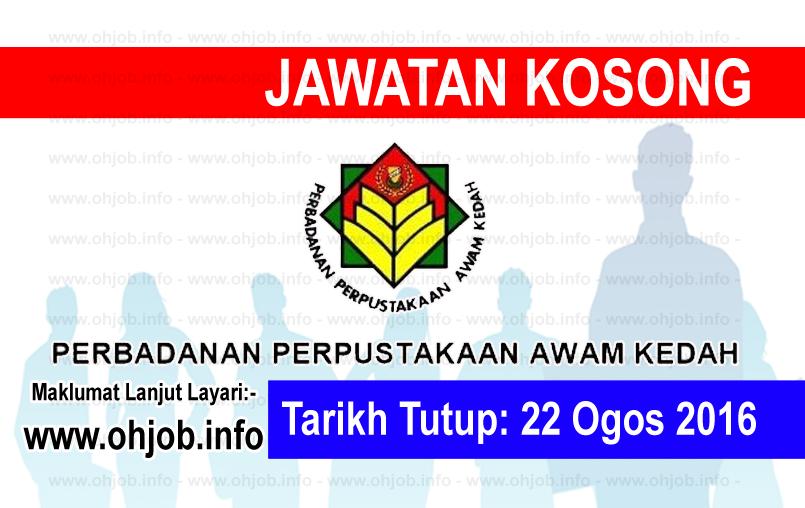 Jawatan Kerja Kosong Perbadanan Perpustakaan Awam Kedah logo www.ohjob.info ogos 2016