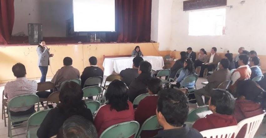 Capacitan a Presidentes de Comités para Nombramiento Docente 2019 en la UGEL Santiago de Chuco