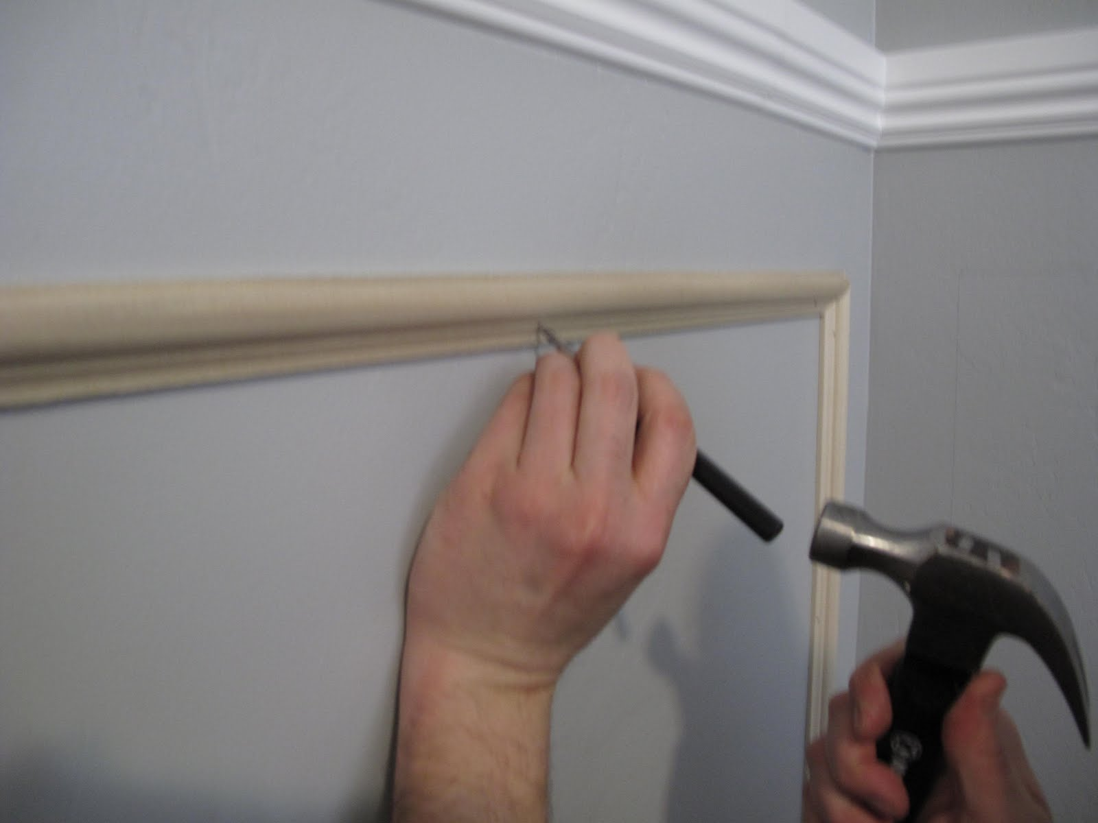 Picture Frame Moulding Below Chair Rail Folding Chairs With Storage Rack Little Miss Penny Wenny How To Install Shown On But The Same Process Was Done