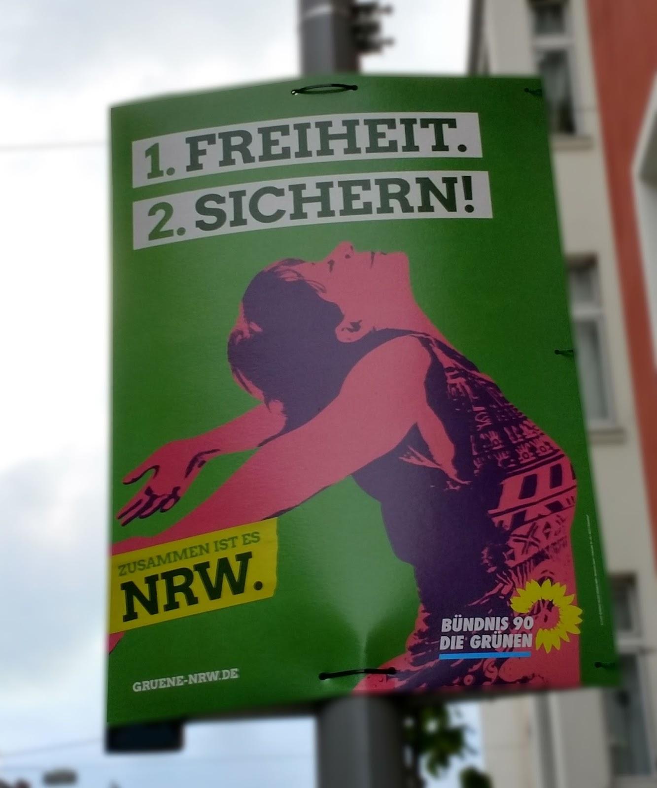 Zettels Kleines Zimmer zettels raum wahlplakate in nrw grün würgt