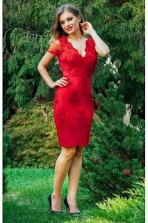 rochie-midi-de-ocazie-din-dantela-rosie-cu-maneci-scurte-eleny2