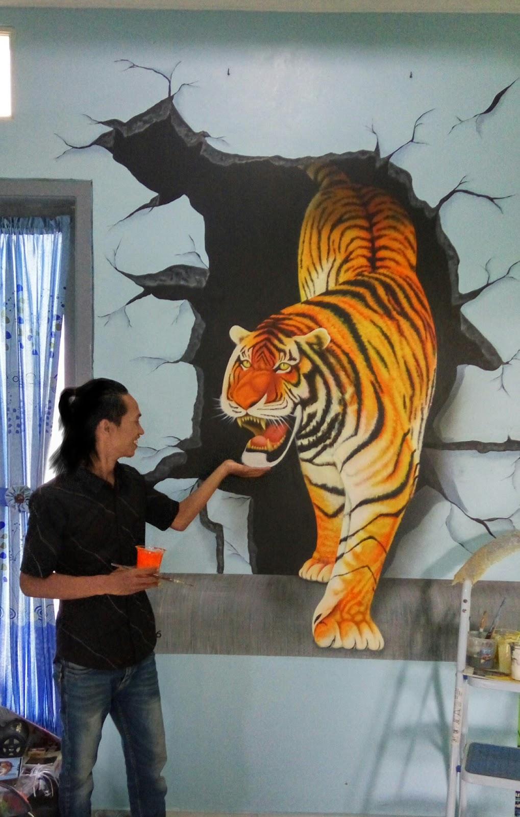 Lukisan Dinding 3d : lukisan, dinding, Lukisan, Dinding, Keren, Cikimm.com