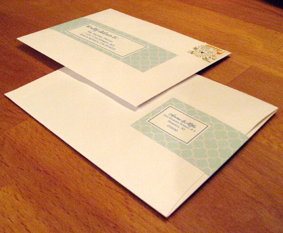 Return Labels For Wedding Invitations: Ribbons And Ruffles: Ode To Invitations