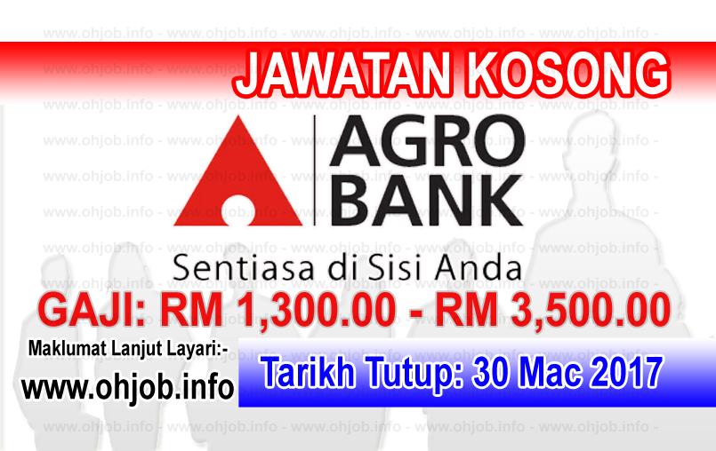 Jawatan Kerja Kosong Agrobank - Bank Pertanian Malaysia Berhad logo www.ohjob.info mac 2017