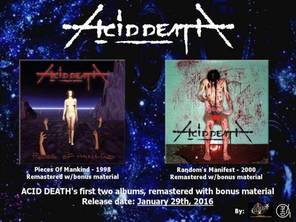 "ACID DEATH: Επανακυκλοφορία των ""Pieces Of Mankind"" και ""Random's Manifest"" στις 29 Ιανουαρίου"