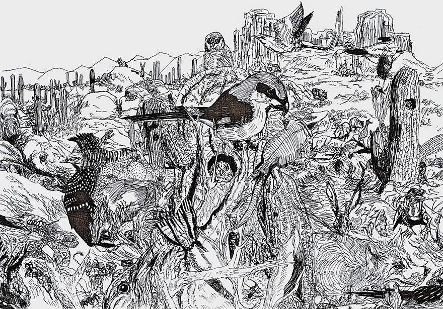 11-Year-Old Child Prodigy Creates Stunningly Detailed Drawings Bursting With Life