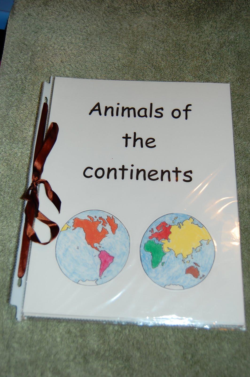 Montessori Design Animals Of The Continents