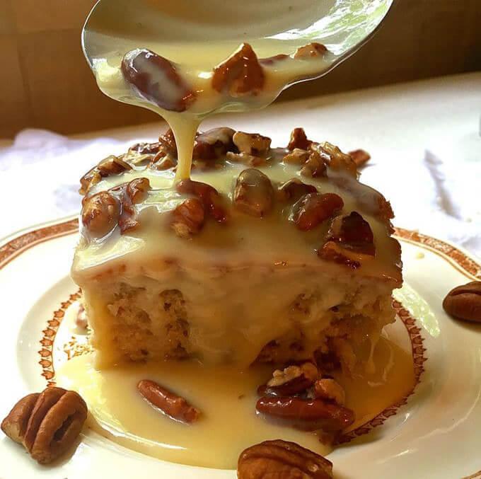Southern Pecan Praline Cake 100 Delicious