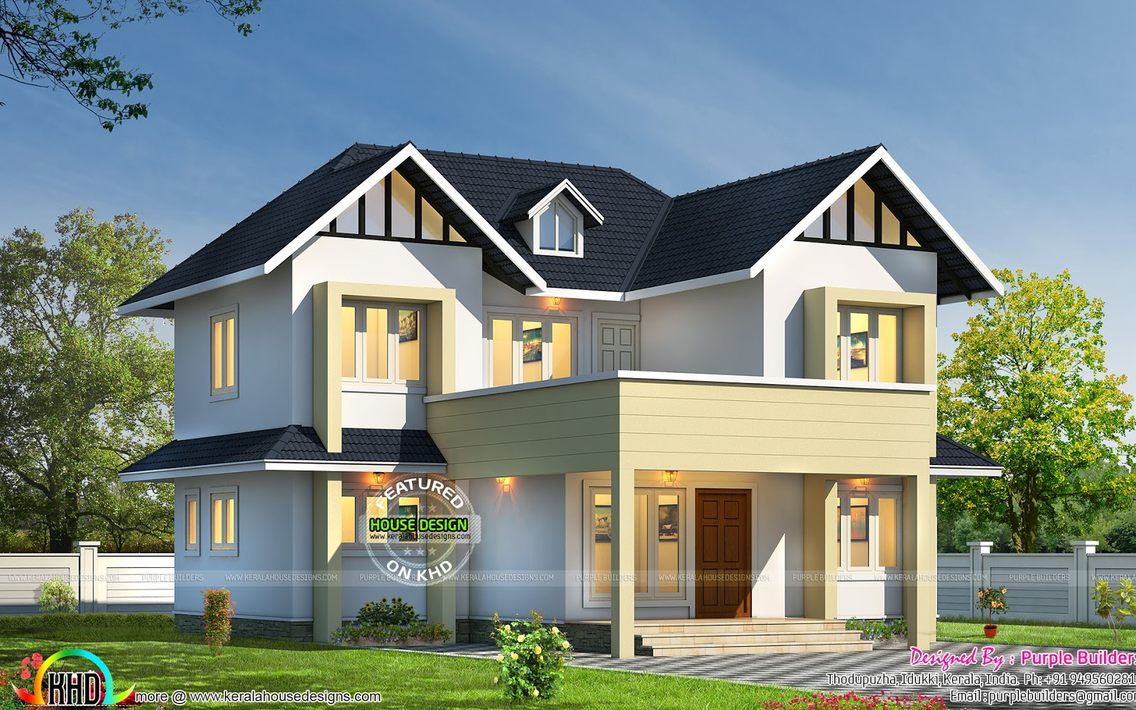 Nice And Simple 1656 Sq Ft Home Kerala Home Design And