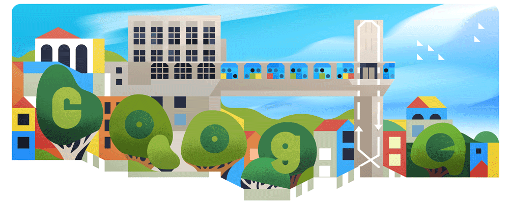 Today's Doodle celebrates the iconic Lacerda Elevator of Salvador, Brazil