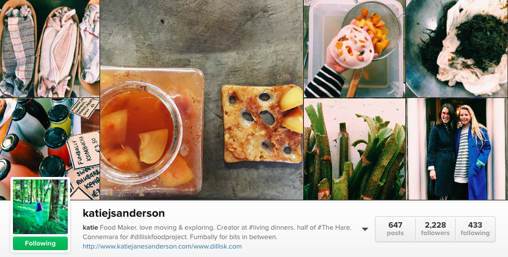 6 Irish Food Instagram to follow - Katie Sanderson
