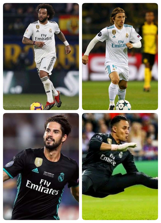 Ces 7 joueurs vont quitté real Madrid au mercato prochaine