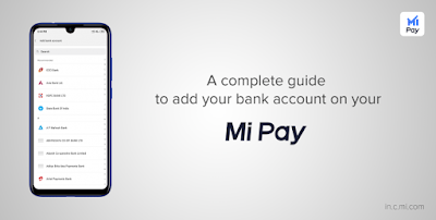 How to add your bank acount with Mi pay