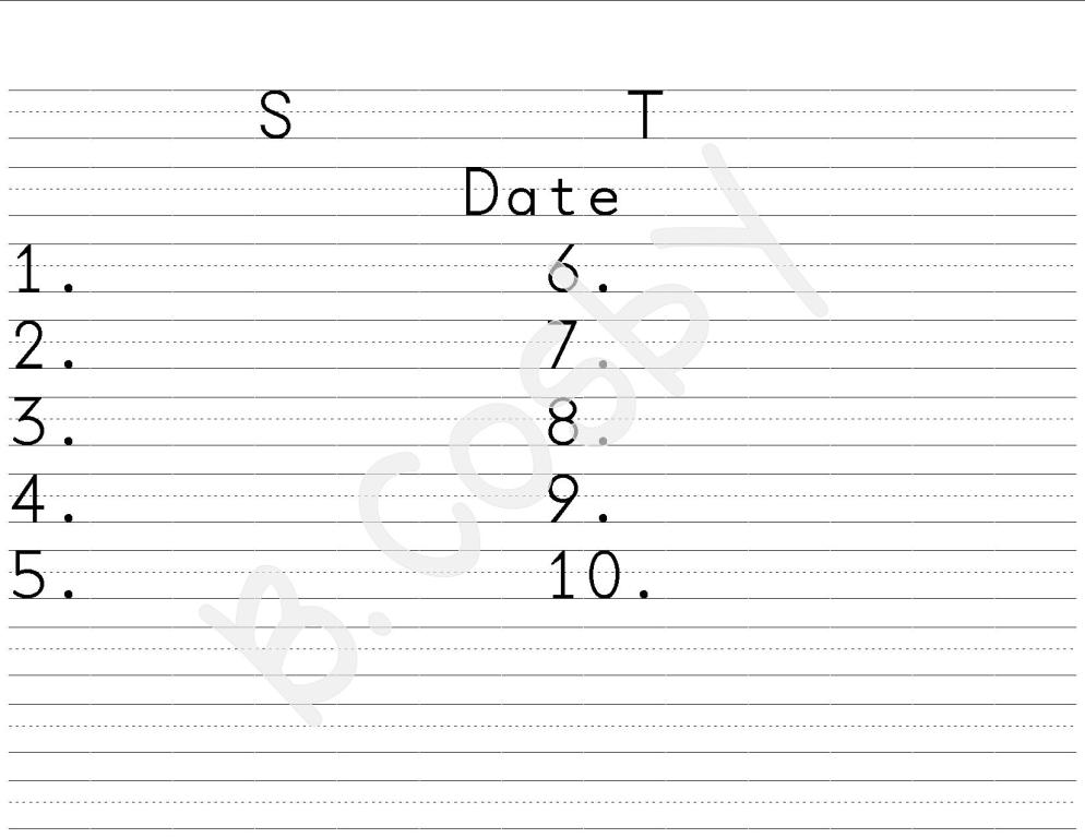 Spelling Test Template 16 Words Pictures to Pin – Spelling Test Template