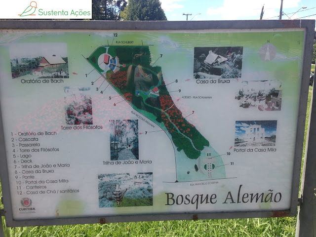 Mapa do Bosque Alemão