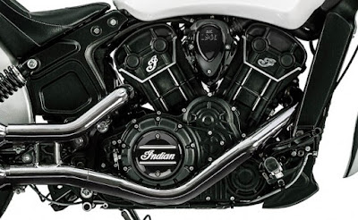 2016 Indian Scout Sixty Cruiser Motorcycle engine pose